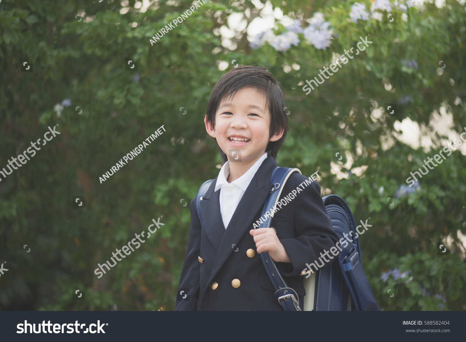 d36d8862876 outlet store 8b5db 9da74 Portrait of Asian student with backpack look at camera  outdoors,back ...