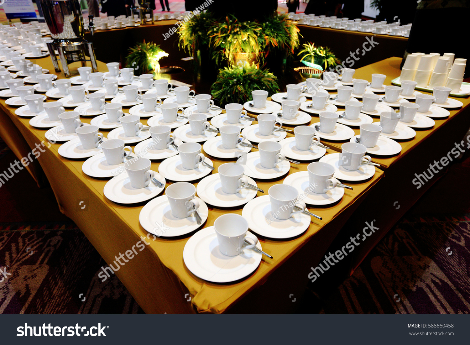 Group Empty Coffee Cups Many Rows White Stock Photo Edit Now