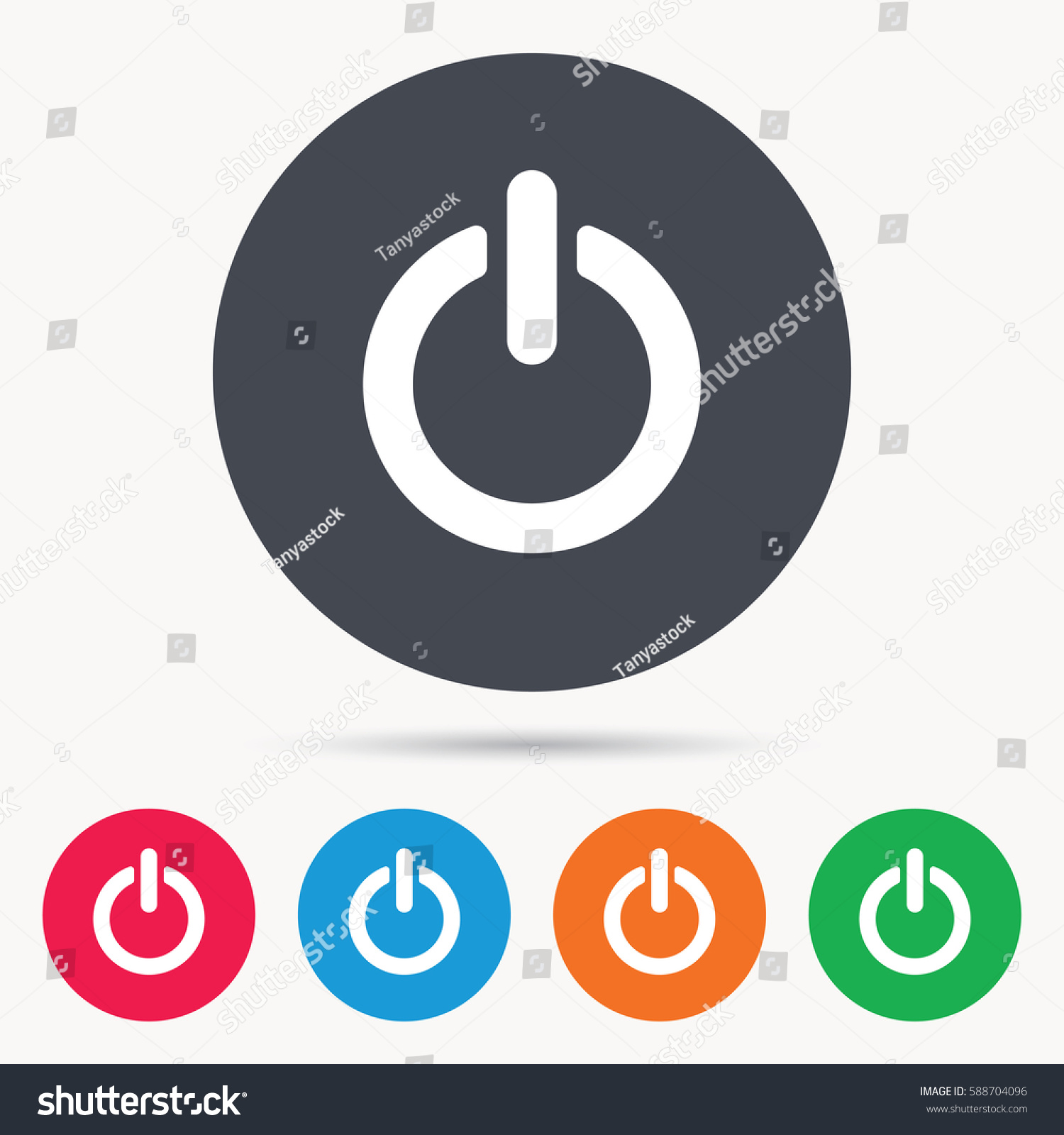 On Off Power Icon Energy Switch Stock Illustration 588704096 ...