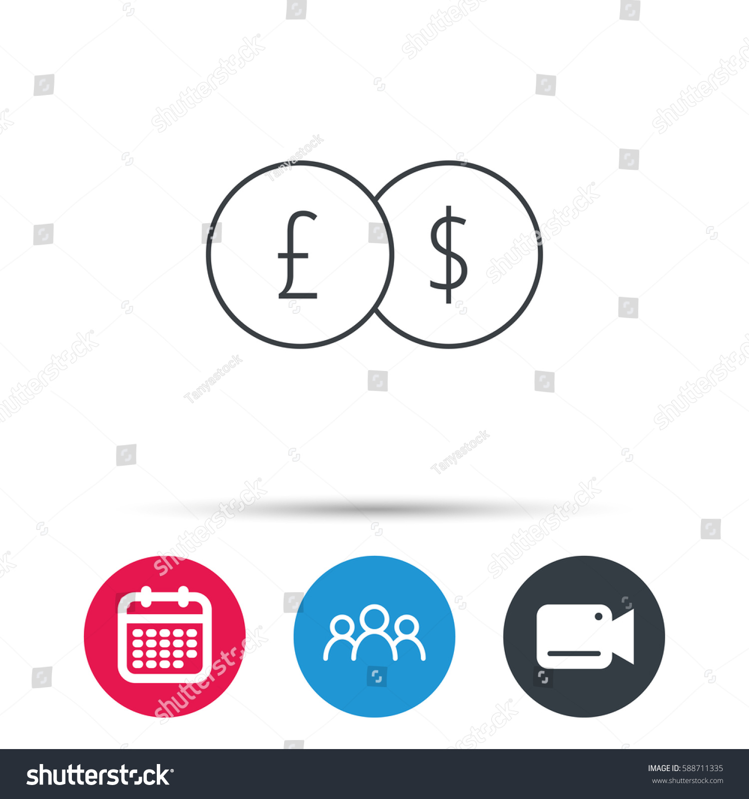 Currency exchange icon banking transfer sign stock illustration currency exchange icon banking transfer sign pound to dollar symbol group of people buycottarizona Choice Image