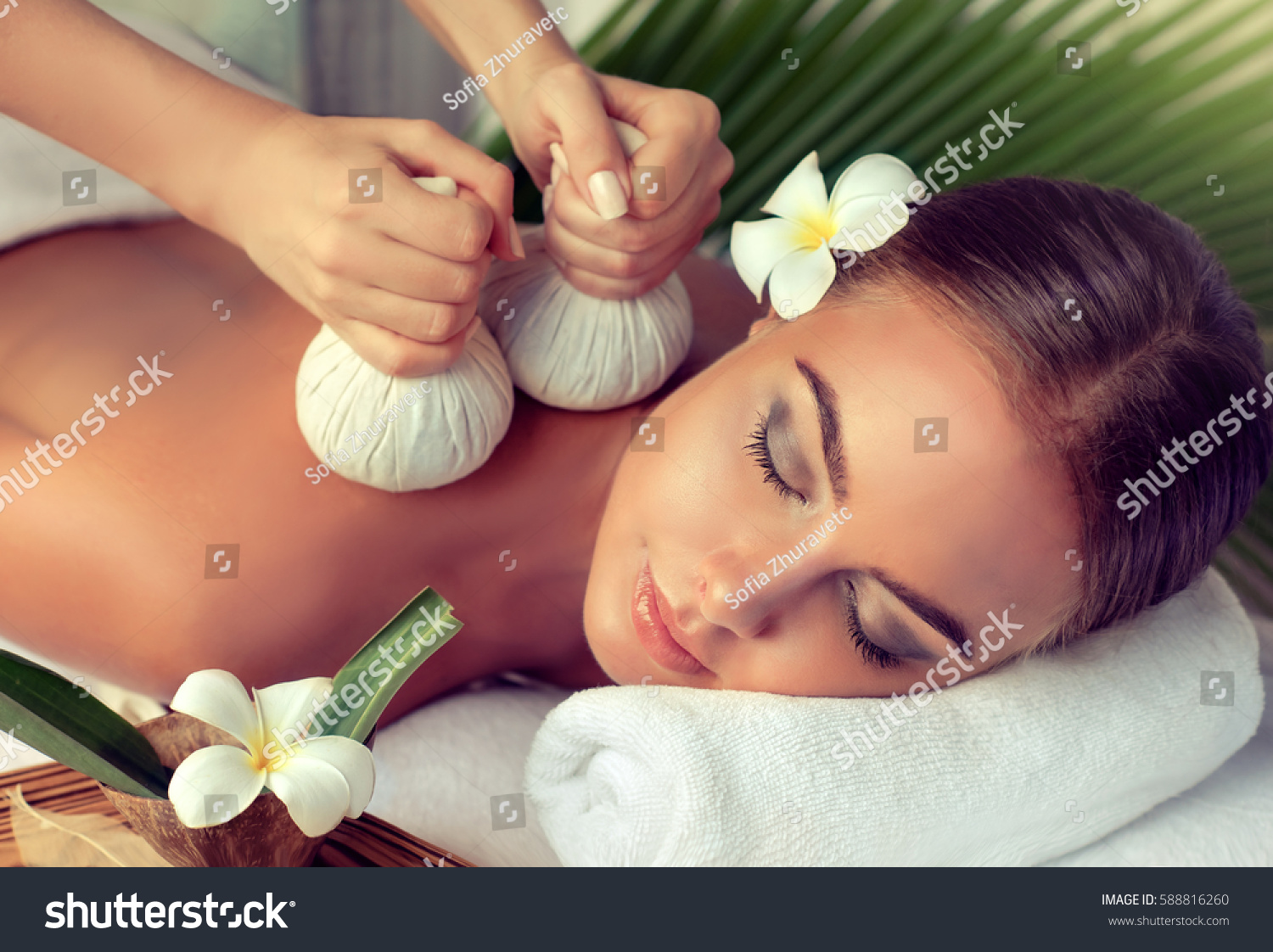 Body care spa body massage treatment stock photo 588816260 shutterstock - Salon massage body body paris ...