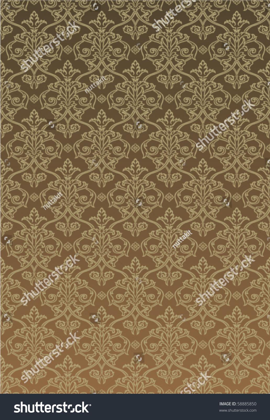 brown tone damask style - photo #2