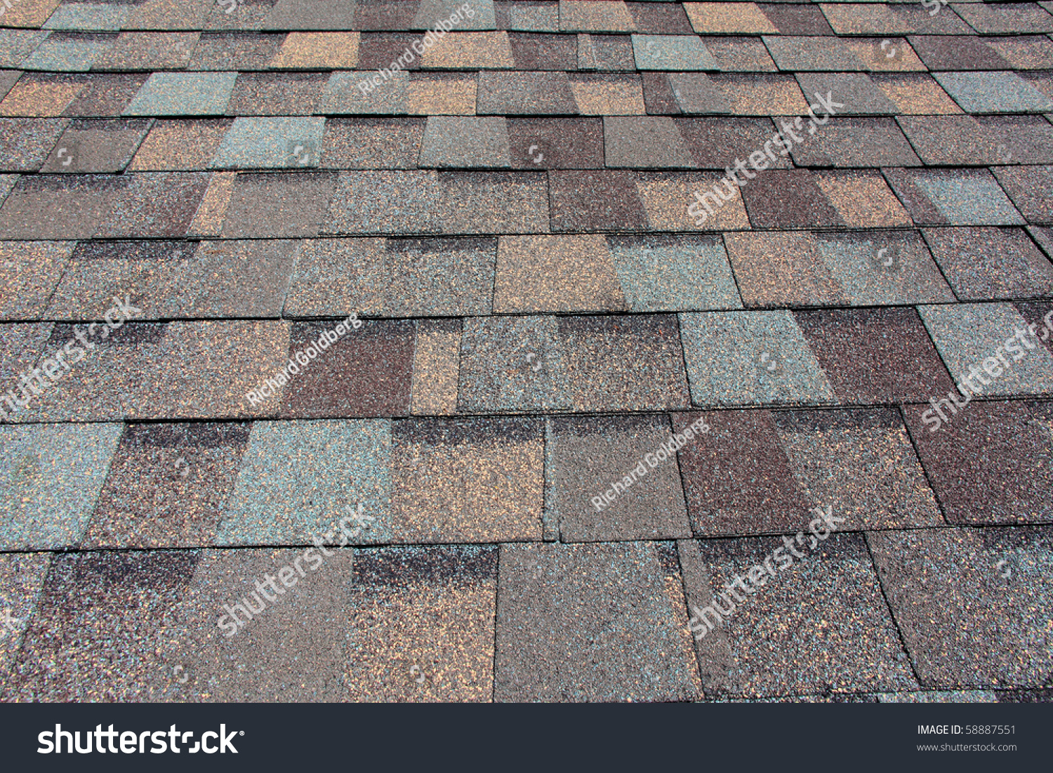 A Newly Installed Composition Asphalt Shingle Roof Stock
