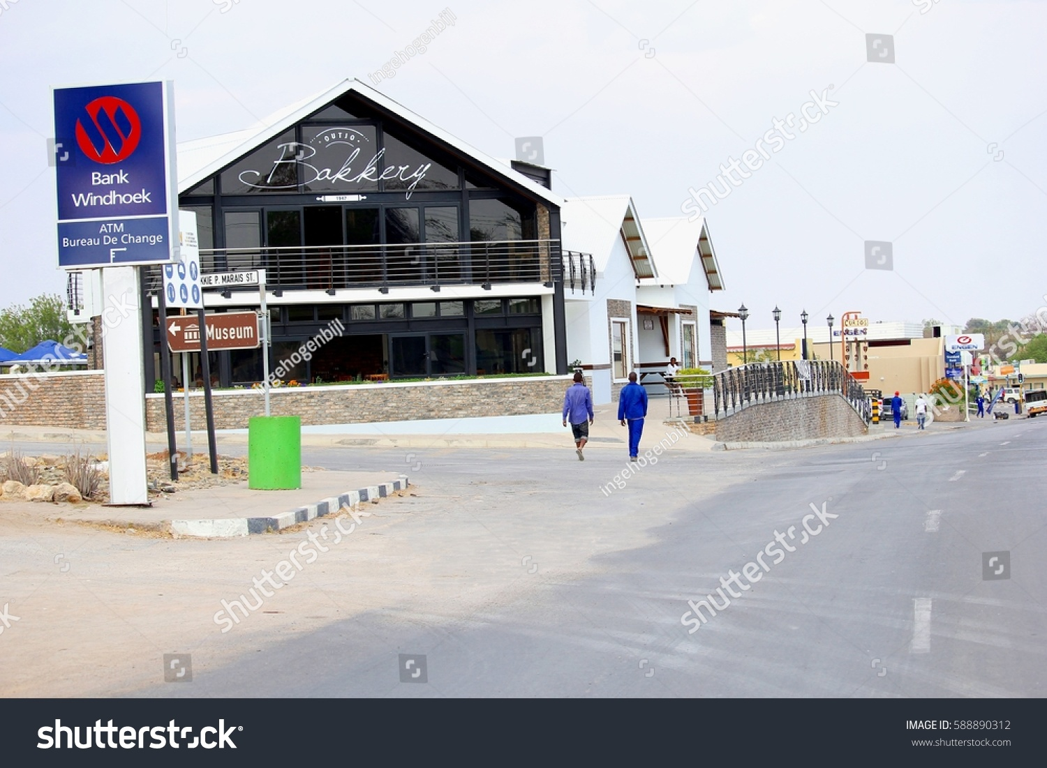 Bureau De Change Old Street outjo namibia africa october 17 2016 stock photo (edit now