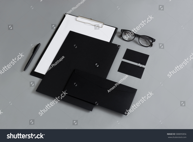 Blank Branding Mockup Business Card Envelopes Stock Photo 588895856 ...