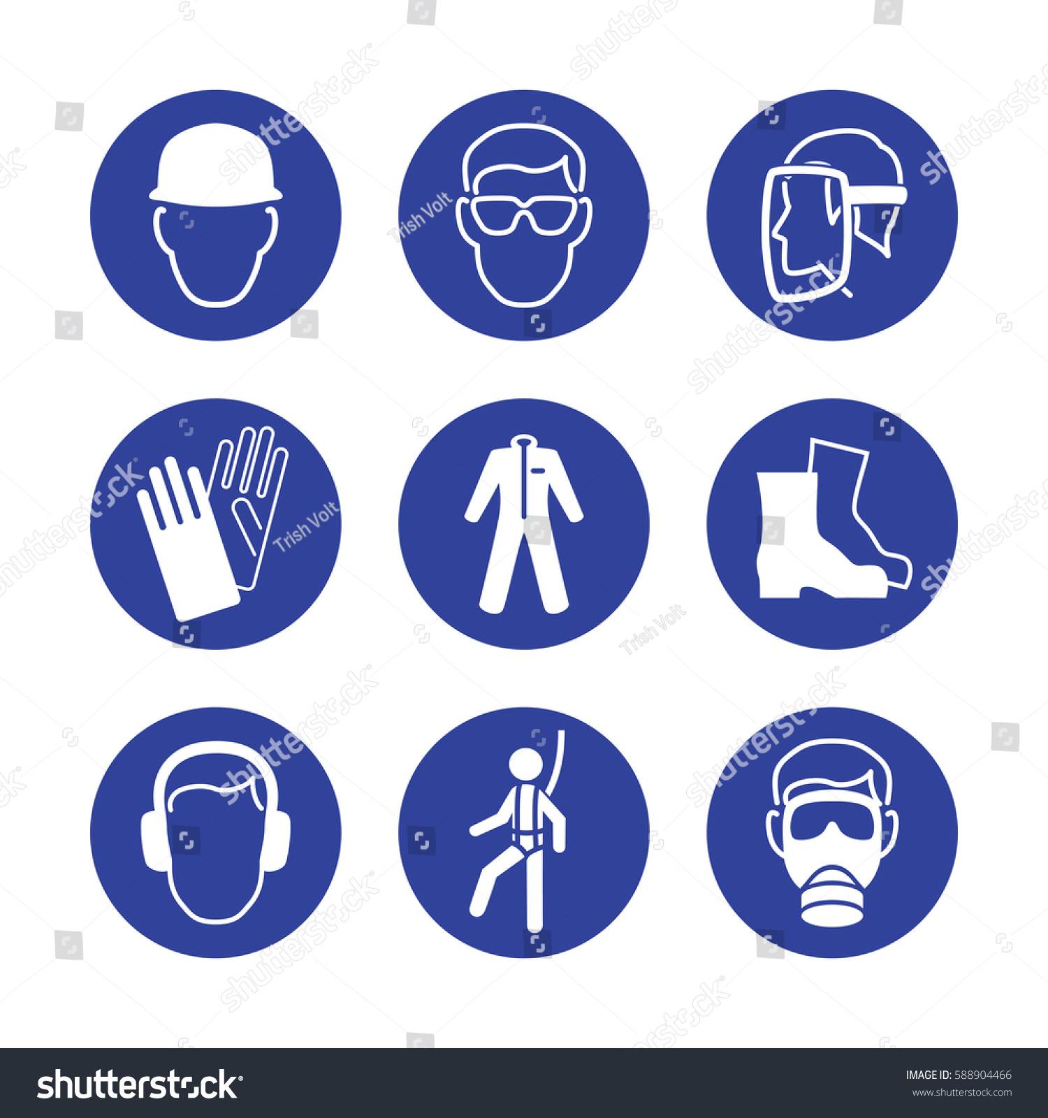 Construction Workers Protection Signs Helmet Protective Stock Photo
