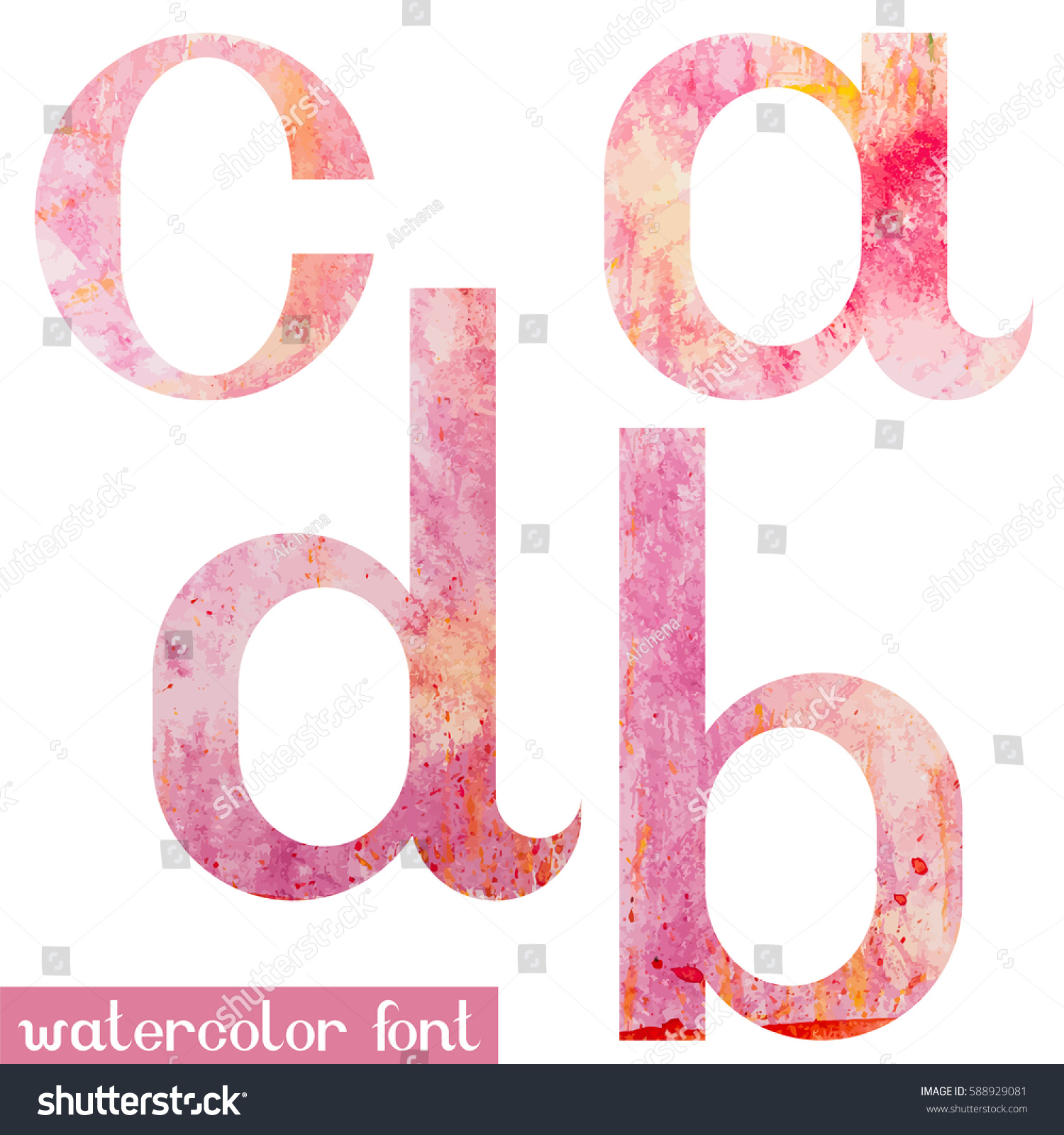 Colorful Pink Spring Handmade Watercolor Paint Stock Vector (Royalty ...