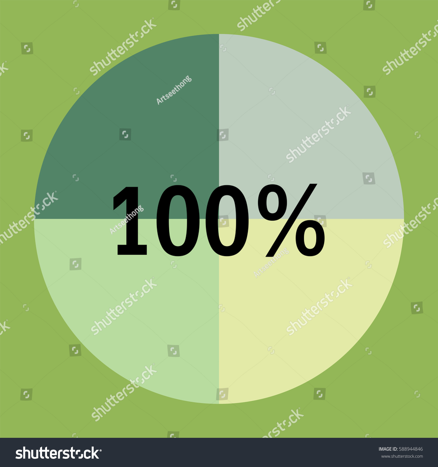 One hundred percentage green pie chart 588944846 one hundred percentage green pie chart circle chart quarter pie chart 100 geenschuldenfo Gallery