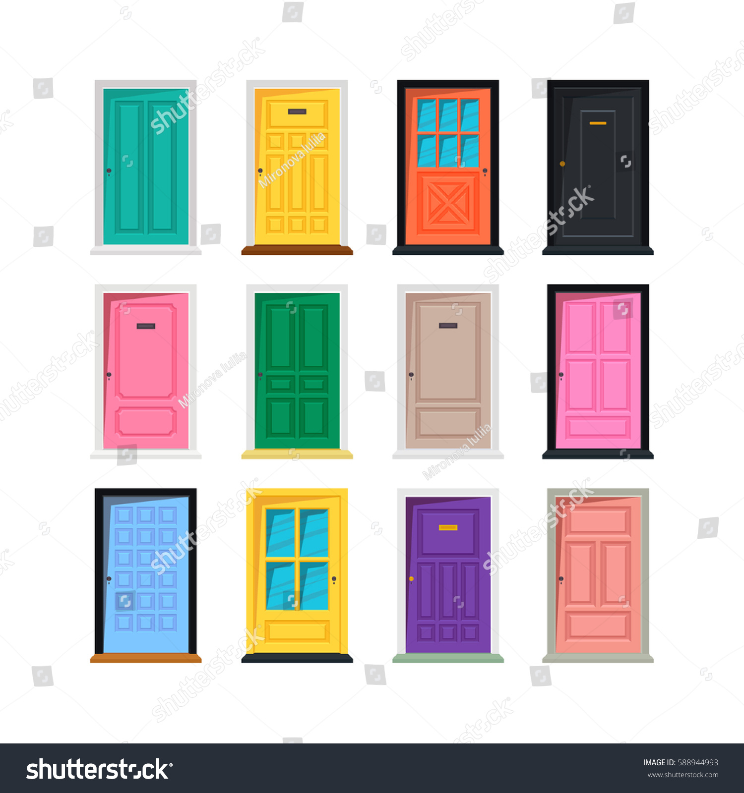 Vector different doors set isolated on white background  sc 1 st  Home Design & different doors - Design Decoration