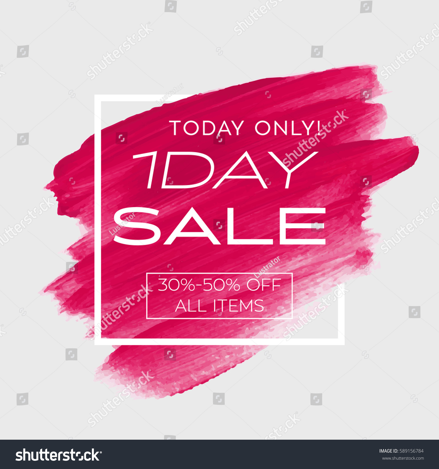 One day sale offer sign over stock vector 589156784 for 1 day paint