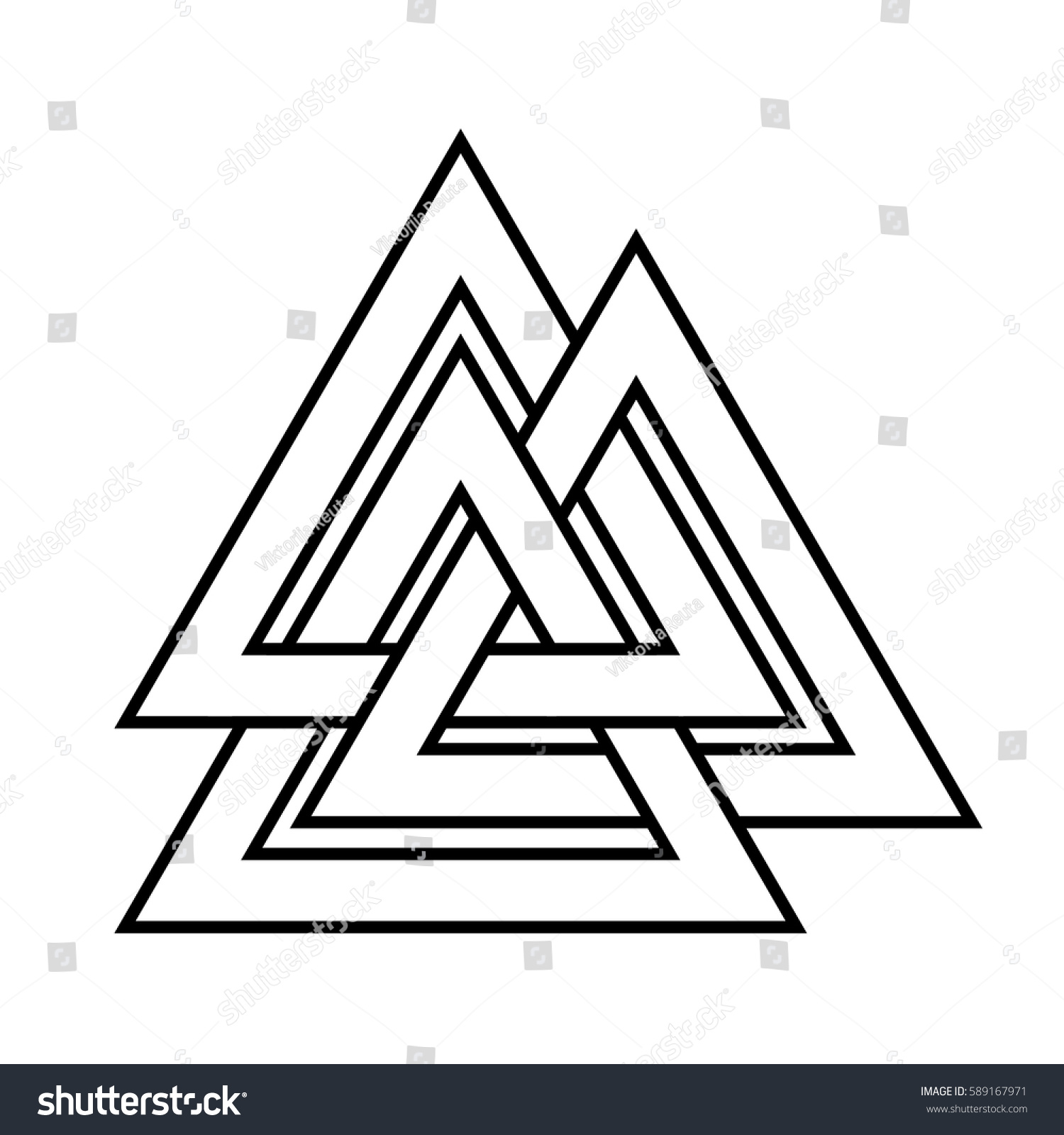 Royalty Free Valknut Symbol Of The World End Of The 589167971