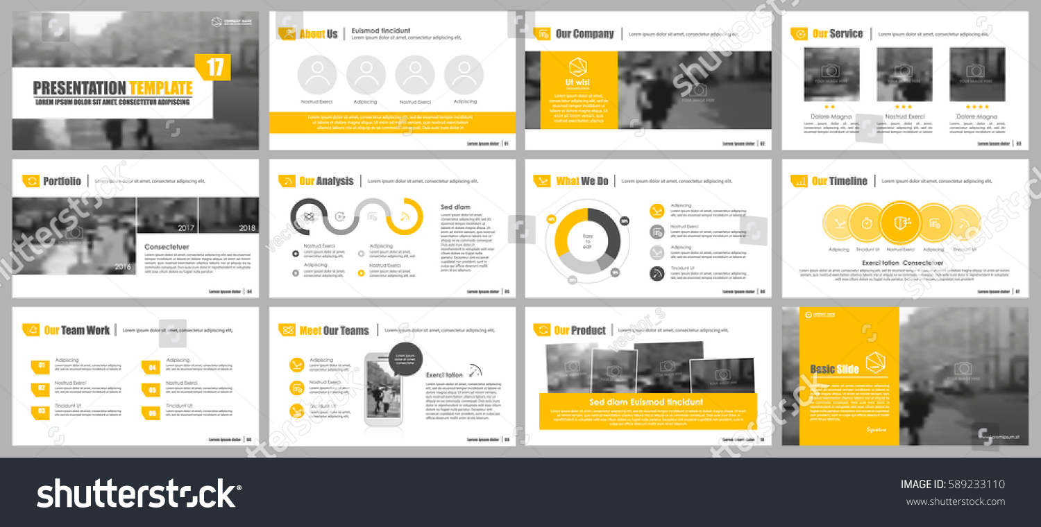 elements infographics presentations templates leaflet annual stock
