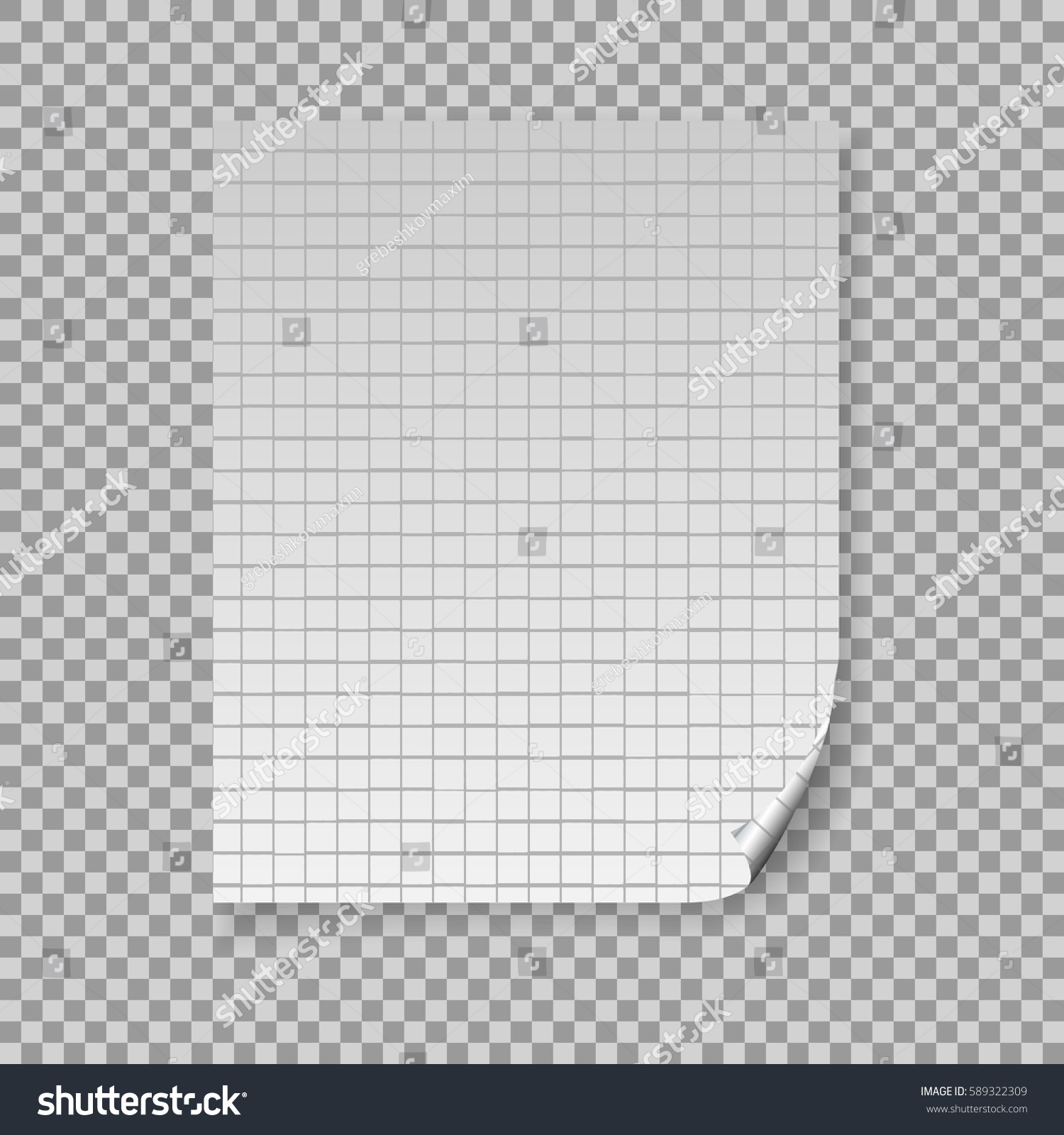 Blank A4 Paper Math Squares On Stock Vector 589322309 - Shutterstock