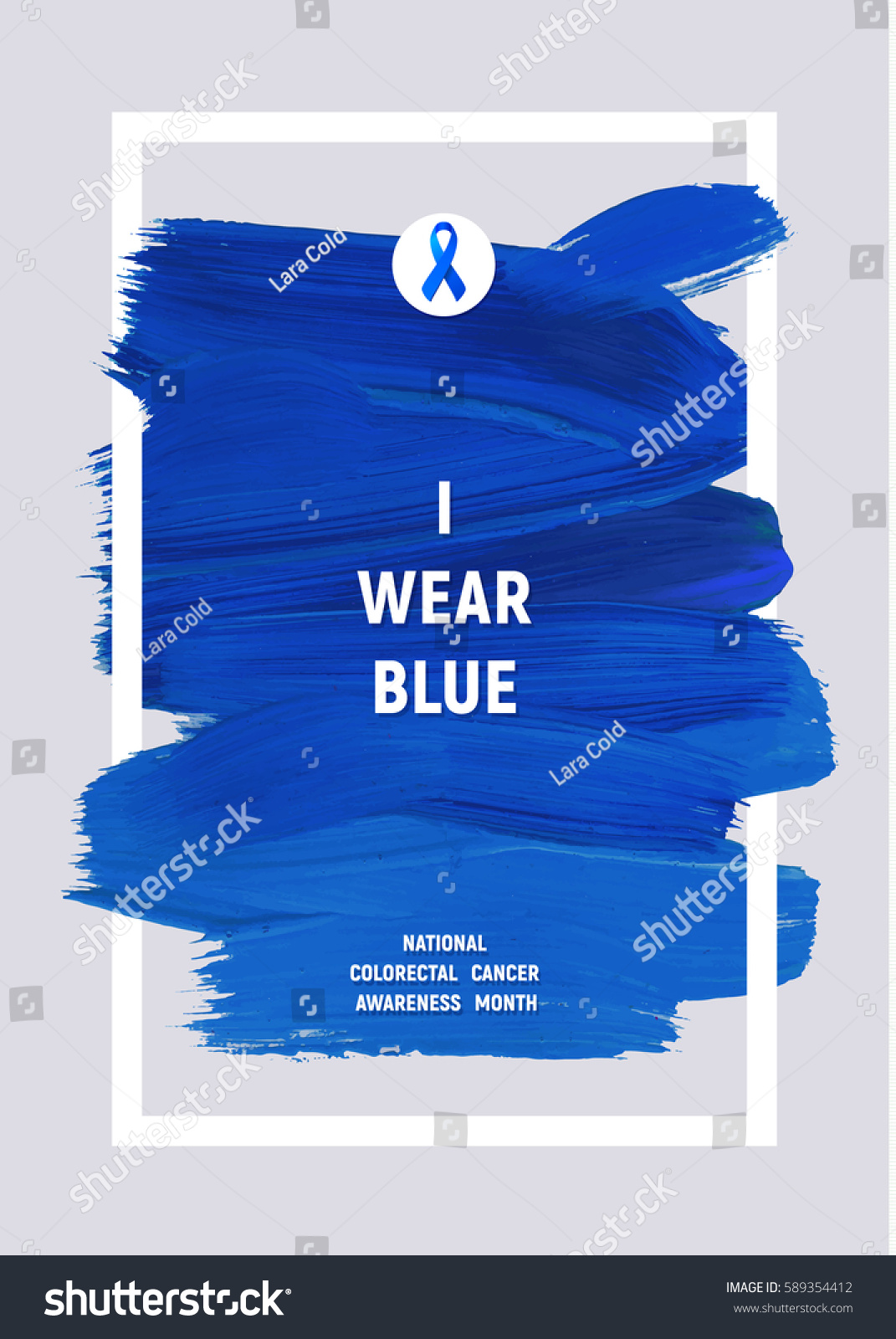Colorectal cancer awareness creative grey blue stock vector colorectal cancer awareness creative grey and blue poster brush stroke and silk ribbon symbol biocorpaavc
