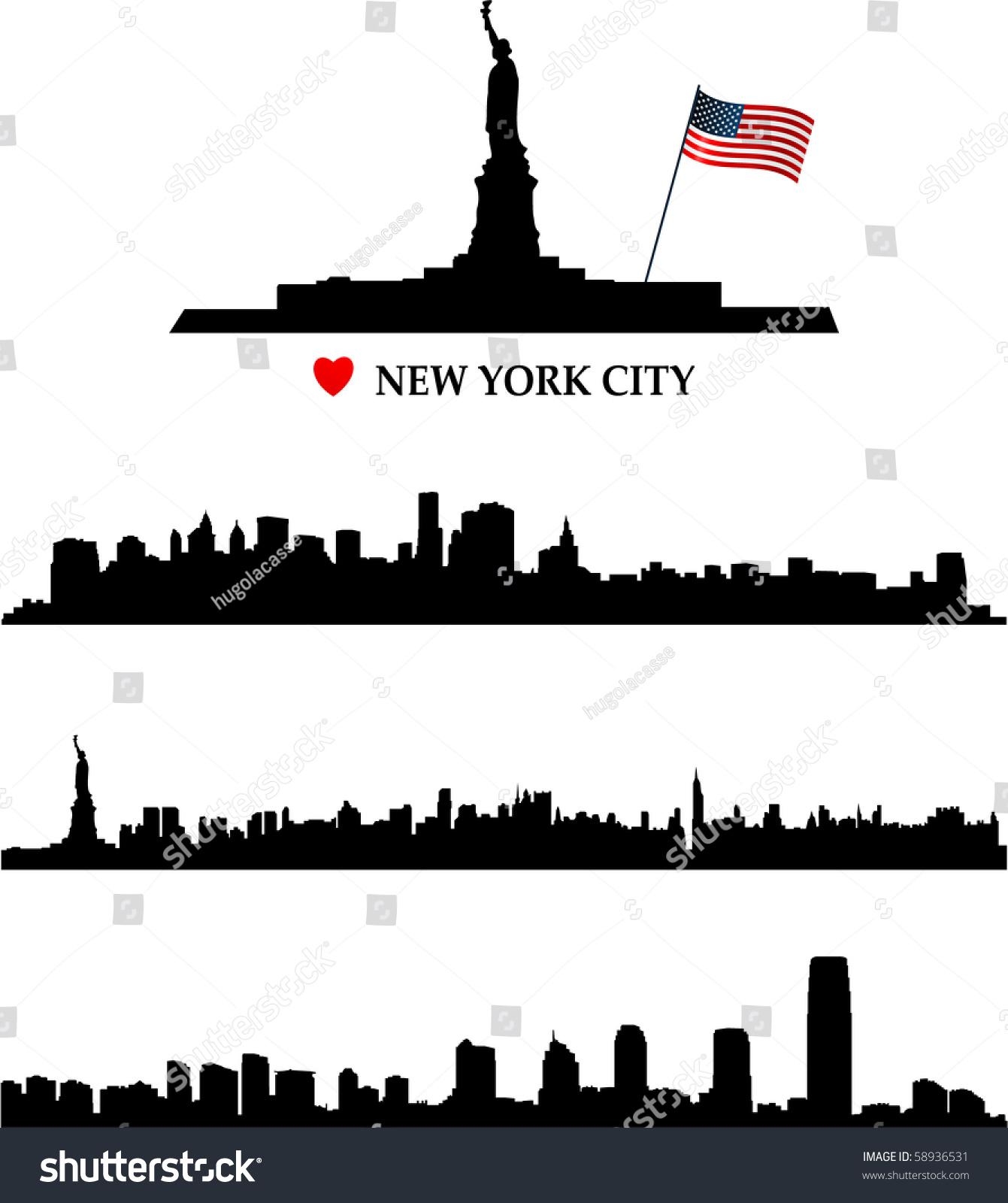 new york city skyline stock vector 58936531 shutterstock new york city vector free new york city vector map