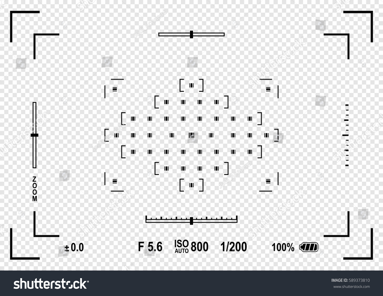 Camera Viewfinder Focusing Screen Camera Vector Stock Vector