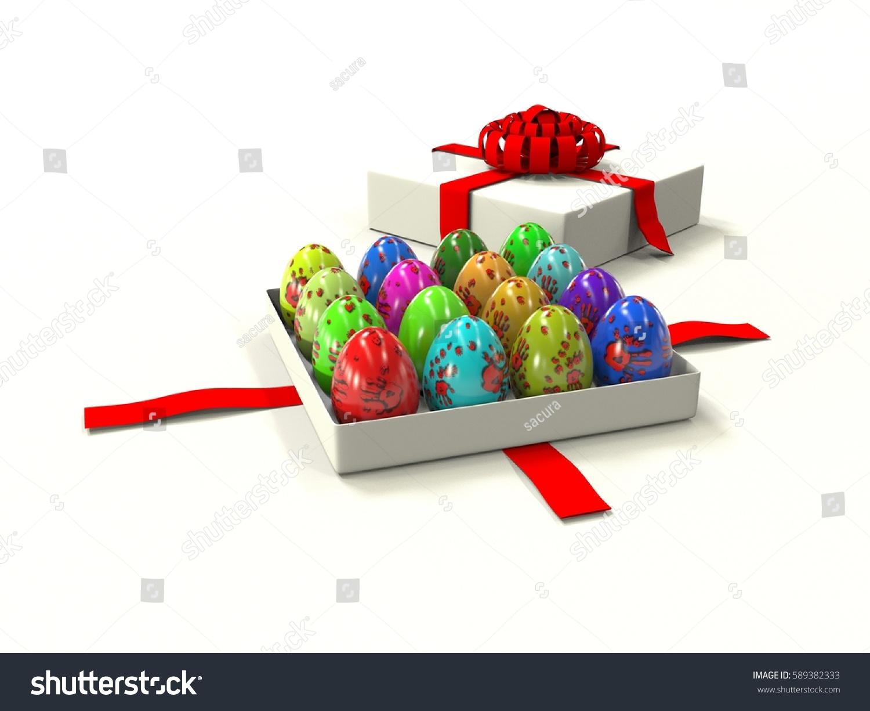 Easter egg gift box 3d render stock illustration 589382333 easter egg in gift box 3d render negle Image collections