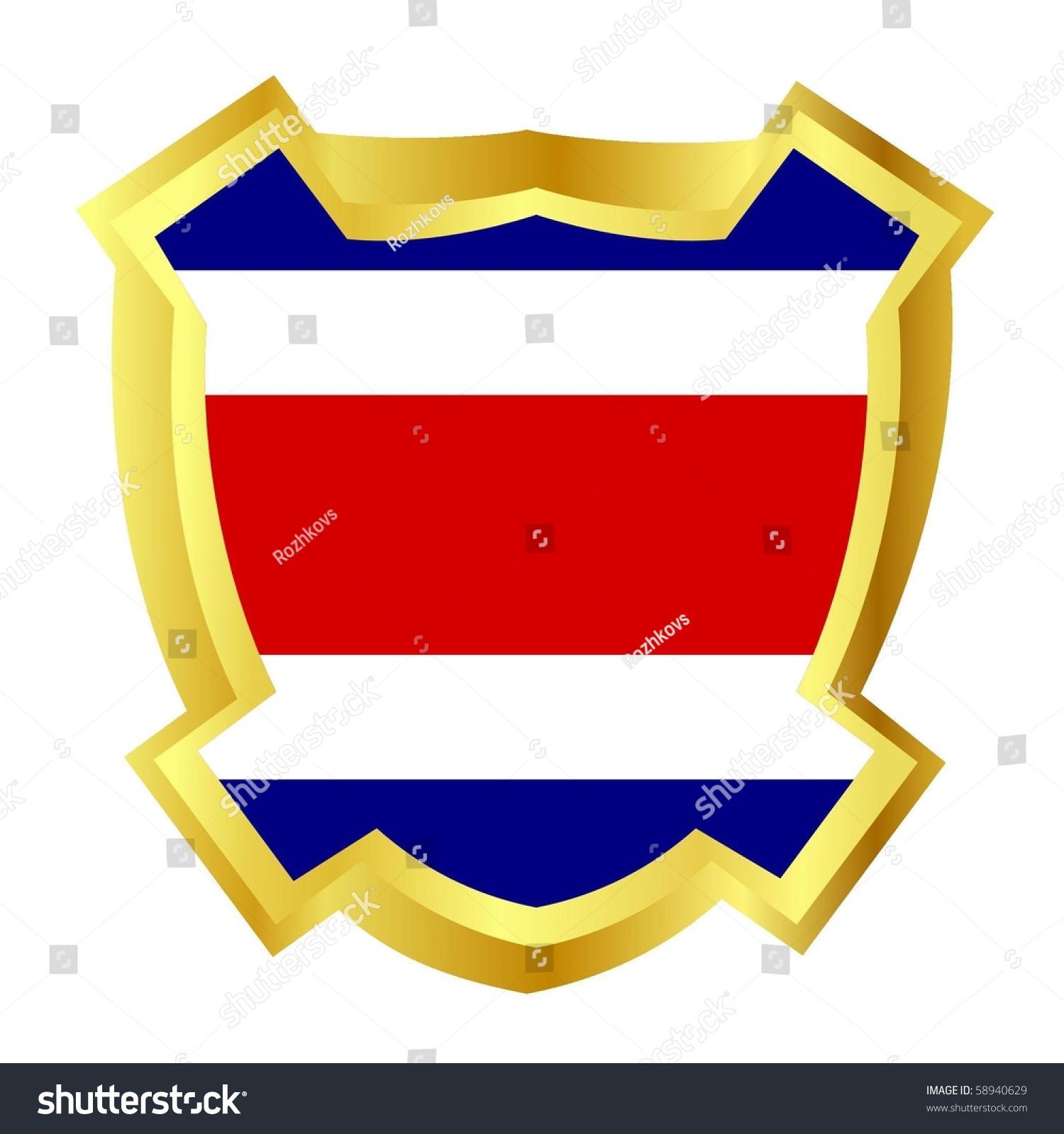 Vector gold shield national symbols costa stock vector 58940629 vector gold shield with the national symbols costa rica biocorpaavc Gallery