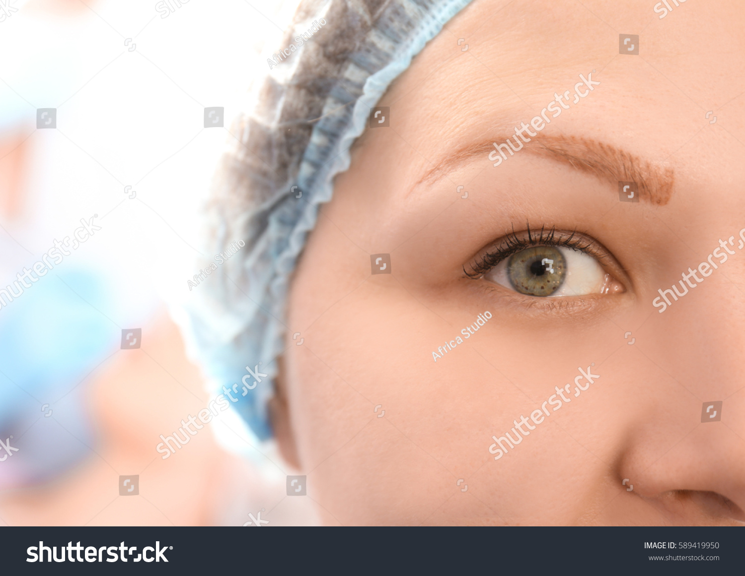 Woman Process Eyebrow Tattoo Removal Stock Photo Edit Now
