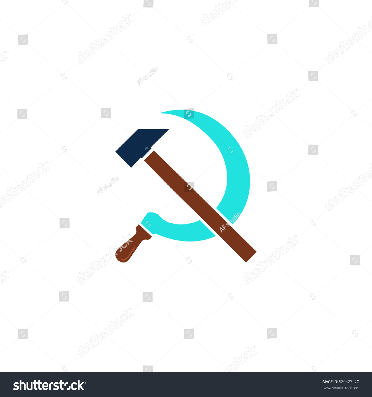 Hammer sickle color symbol icon on stock vector 589423220 hammer sickle color symbol icon on stock vector 589423220 shutterstock biocorpaavc Gallery