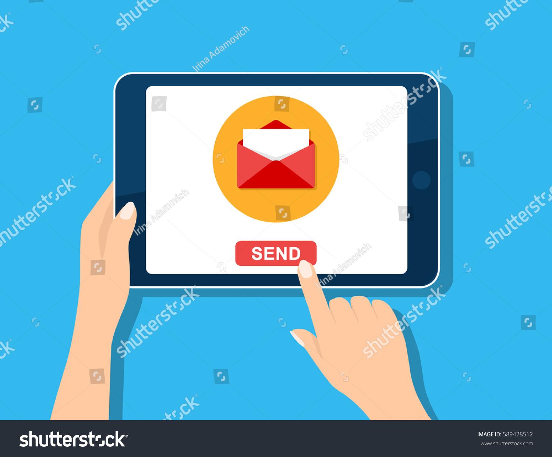 email marketing template email management message stock vector 589428512 shutterstock. Black Bedroom Furniture Sets. Home Design Ideas