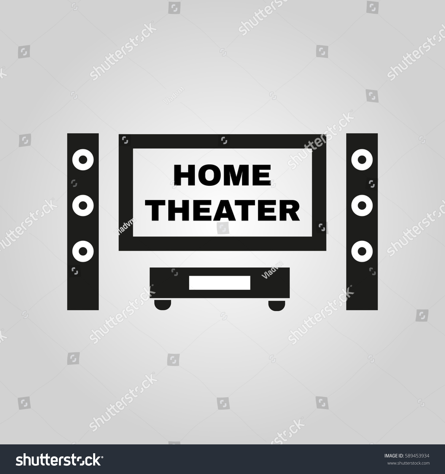 Home Theater Icon TV Movie Symbol Stock Vector HD (Royalty Free ...