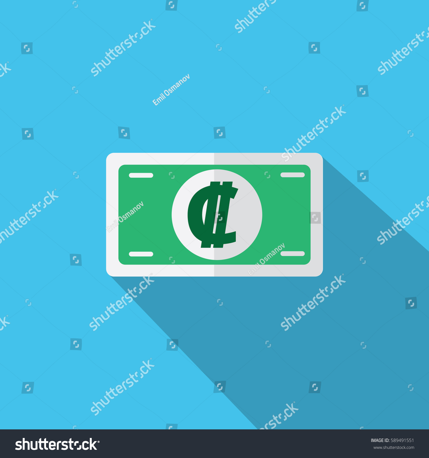 Currency Symbol Colon Costa Rica Stock Vector 589491551 Shutterstock