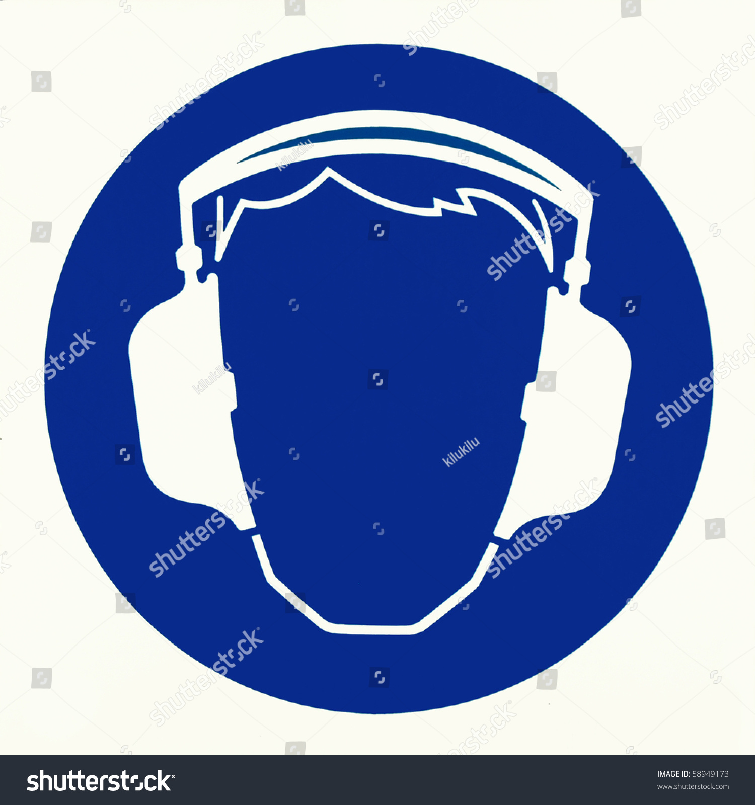 Order Applying Hearing Protection Sign Stock Illustration 58949173