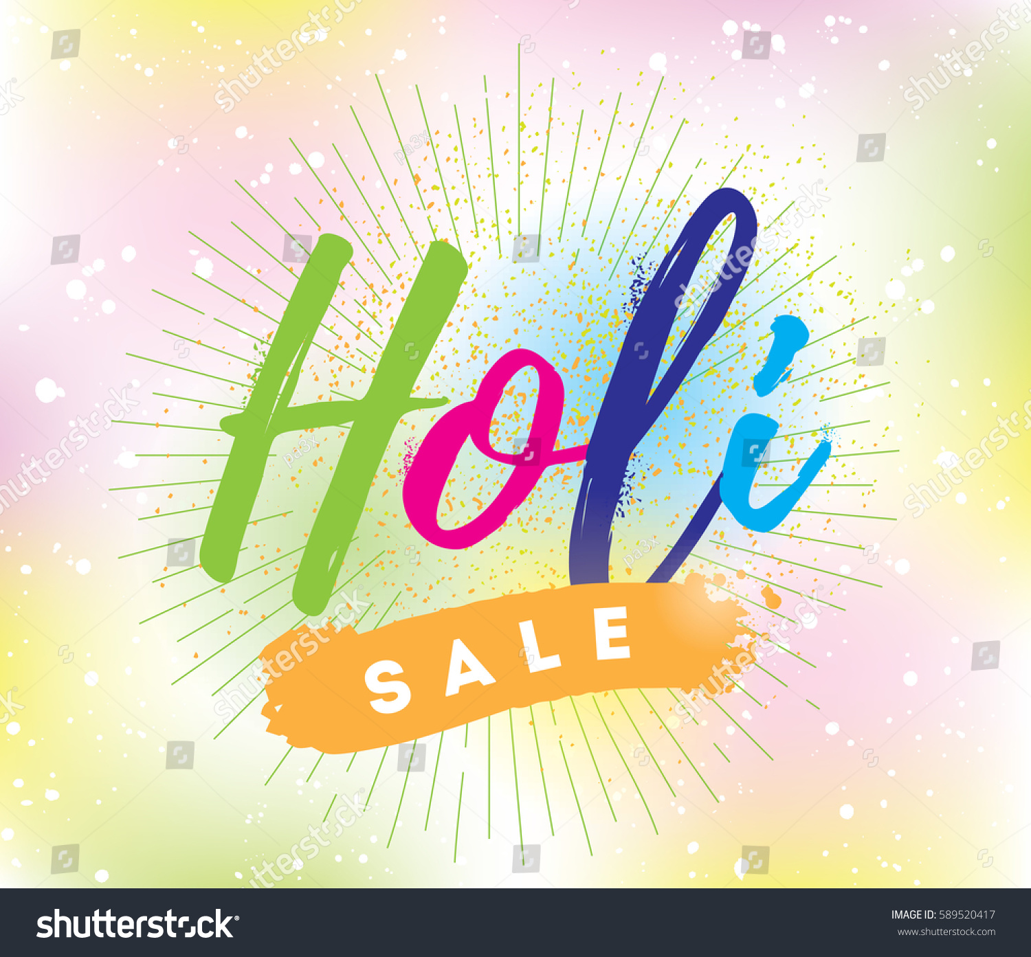 Happy holi festival colors typography colorful stock vector happy holi festival of colors typography colorful logo vector background text kristyandbryce Image collections
