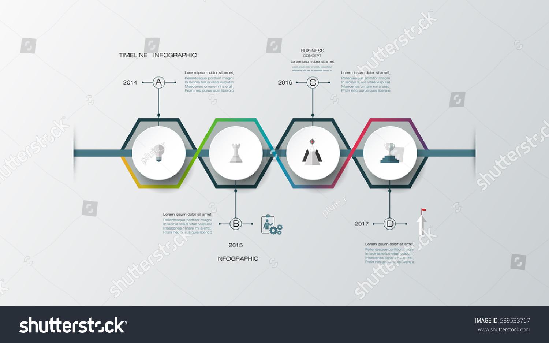 vector infographics timeline design template 3d stock vector 589533767 shutterstock. Black Bedroom Furniture Sets. Home Design Ideas