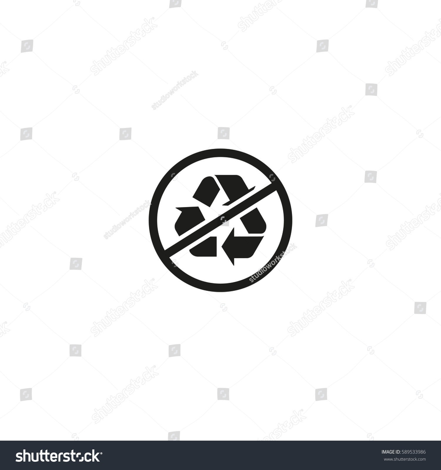 Packaging symbol isolated on white background stock vector 589533986 packaging symbol isolated on white background vector illustration no recycling symbol mobius loop buycottarizona Images