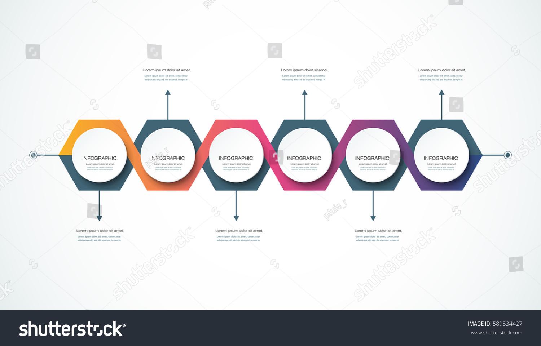 vector infographics timeline design template 3d stock vector 589534427 shutterstock. Black Bedroom Furniture Sets. Home Design Ideas