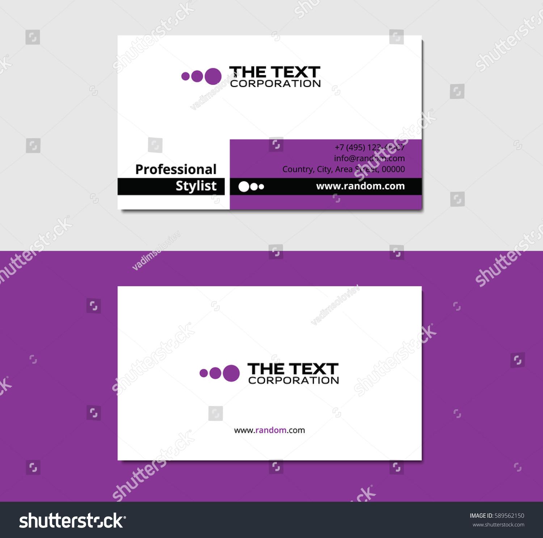 Perfume Business Card Sharp Corners Purple Stock Vector 589562150 ...