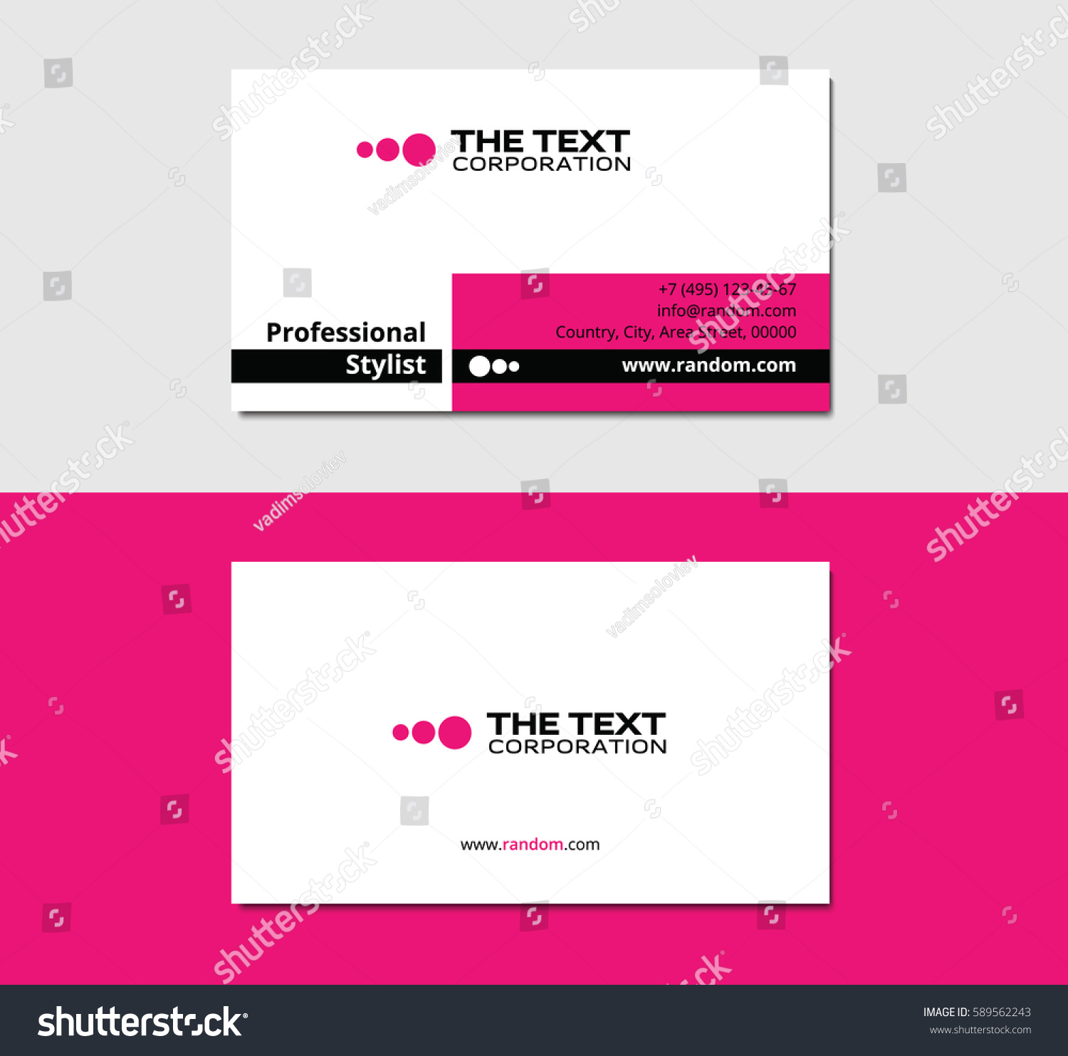 Glamor business card sharp corners pink stock vector 2018 glamor business card with sharp corners pink color reheart Gallery