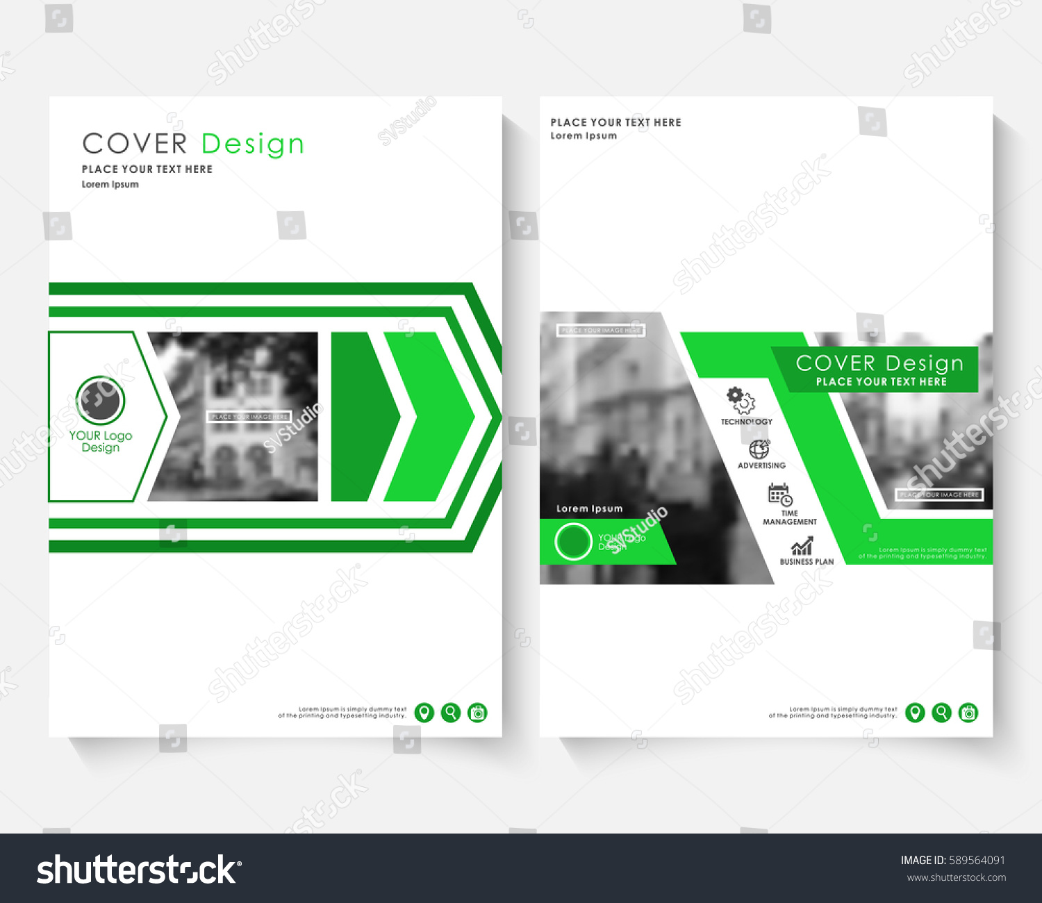 Green marketing cover design template annual stock vector green marketing cover design template for annual report modern minimalist business powerpoint concept booklet alramifo Gallery