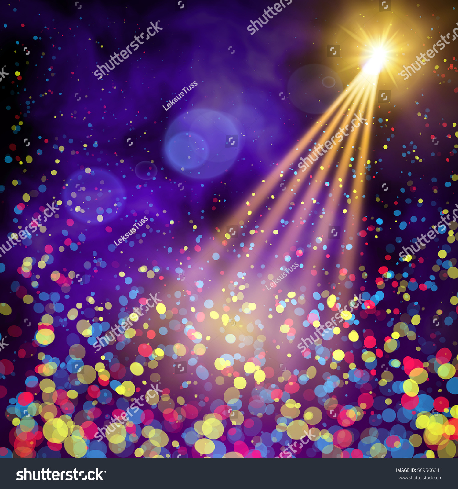bright special lighting. special light effects realistic vector bright projectors for scene lighting isolated on plaid backdrop n
