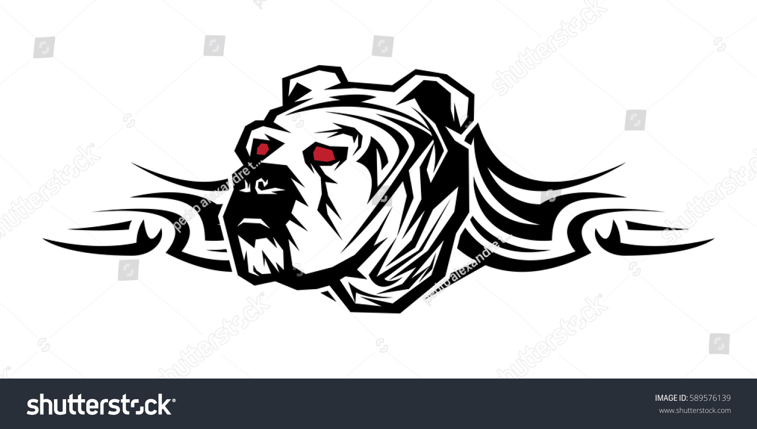 Tribal decorative artistic powerful strength bulldog stock vector tribal decorative artistic powerful strength bulldog tattoo urban ghetto emblem sciox Images