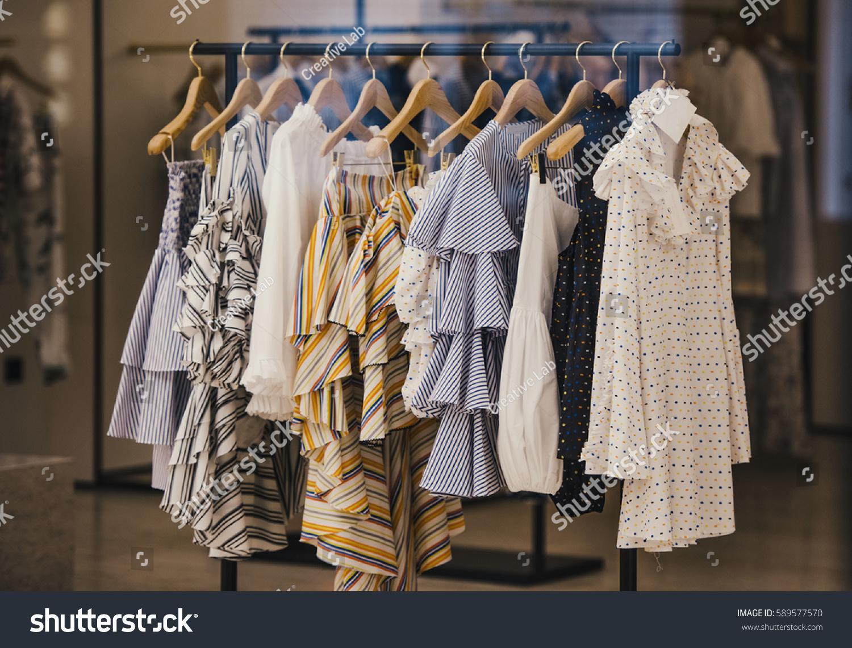 fashionable clothes boutique store london stock photo 589577570