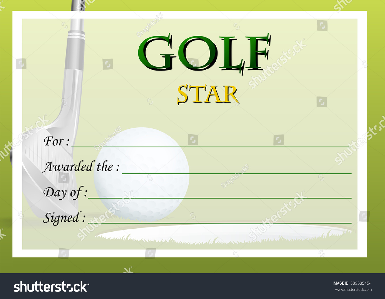 Fine golf certificate templates pictures inspiration example free hole in one certificate template choice image templates 1betcityfo Choice Image