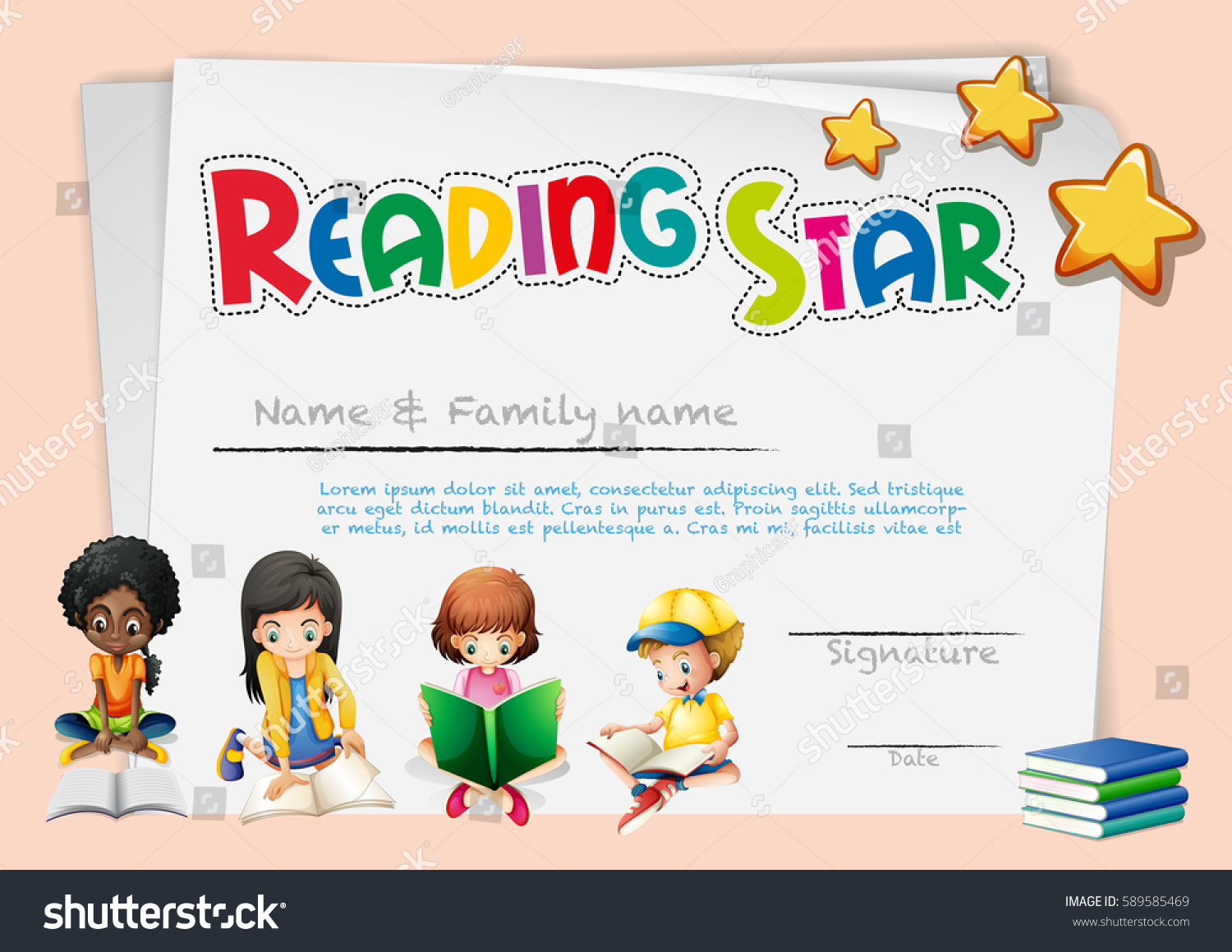 Royalty free reading star certificate 589585469 stock photo reading star certificate 589585469 1betcityfo Choice Image