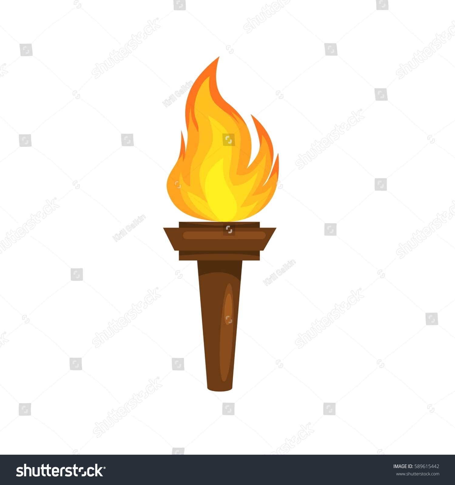Vector Illustration Torch Icon Isolated On Stock Vector Royalty