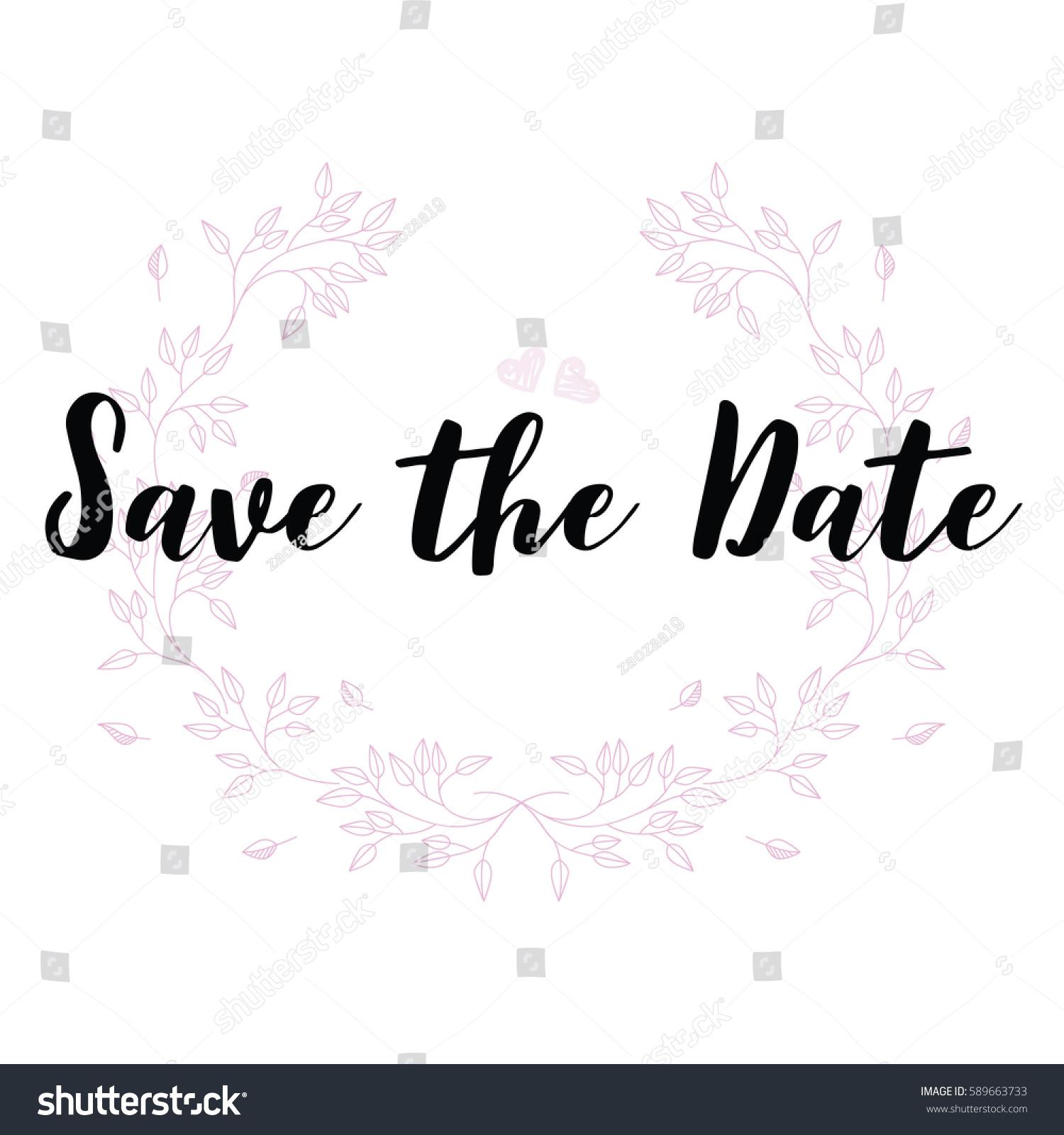 Wedding Quotes Set Design Wedding Invitations Stock Vector (Royalty ...