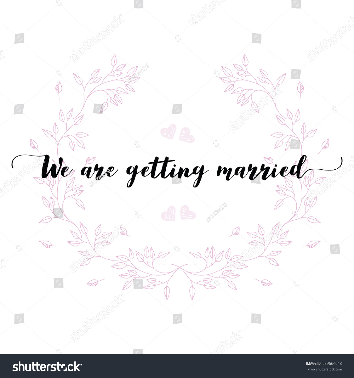 Wedding Quotes Set Design Wedding Invitations Stock Vector ...