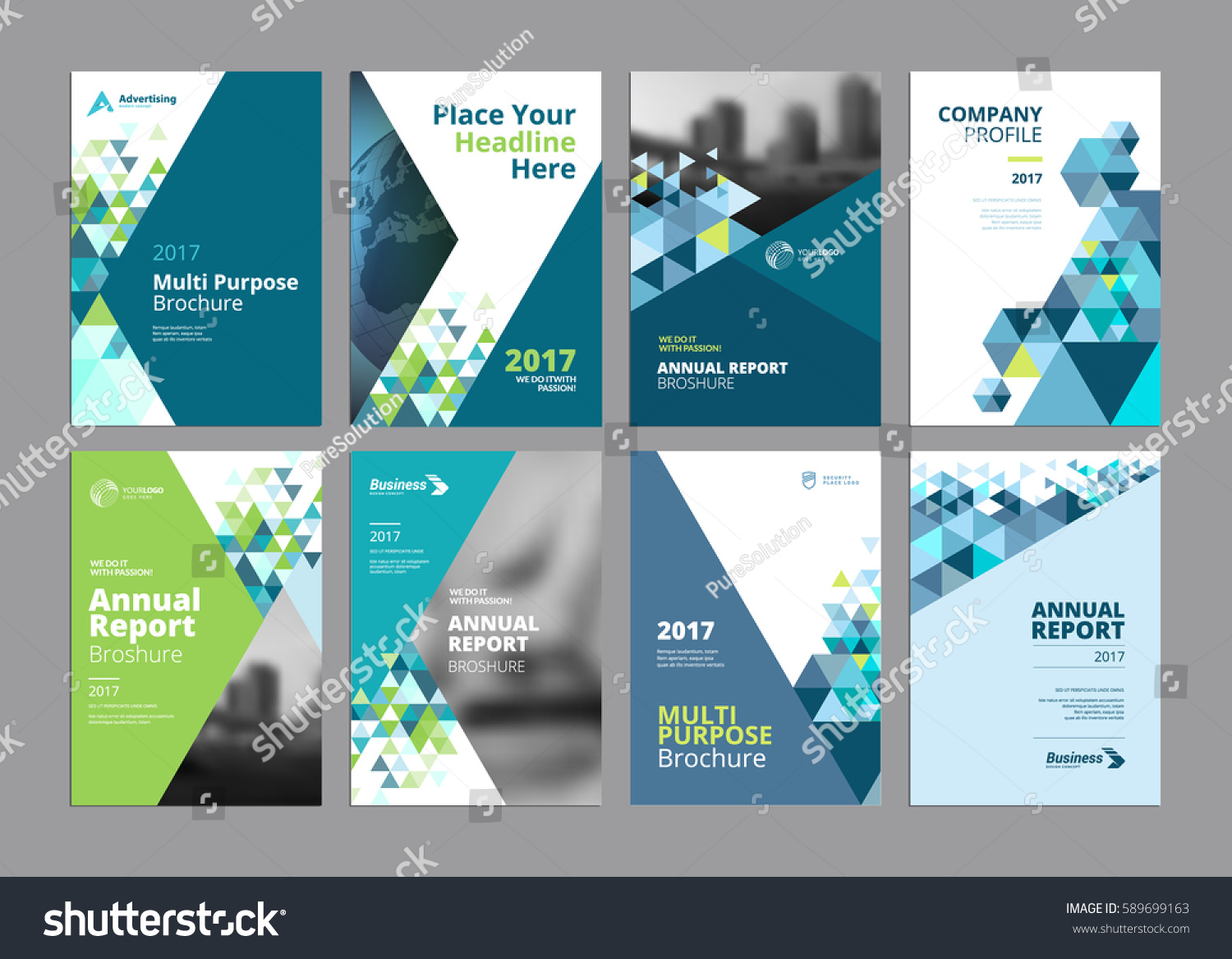 Set Modern Business Paper Design Templates Stock-Vektorgrafik ...