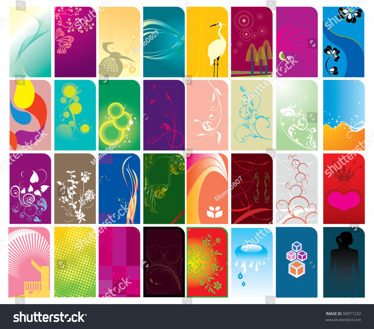 Various type business card designs stock illustration 58971232 various type of business card designs colourmoves