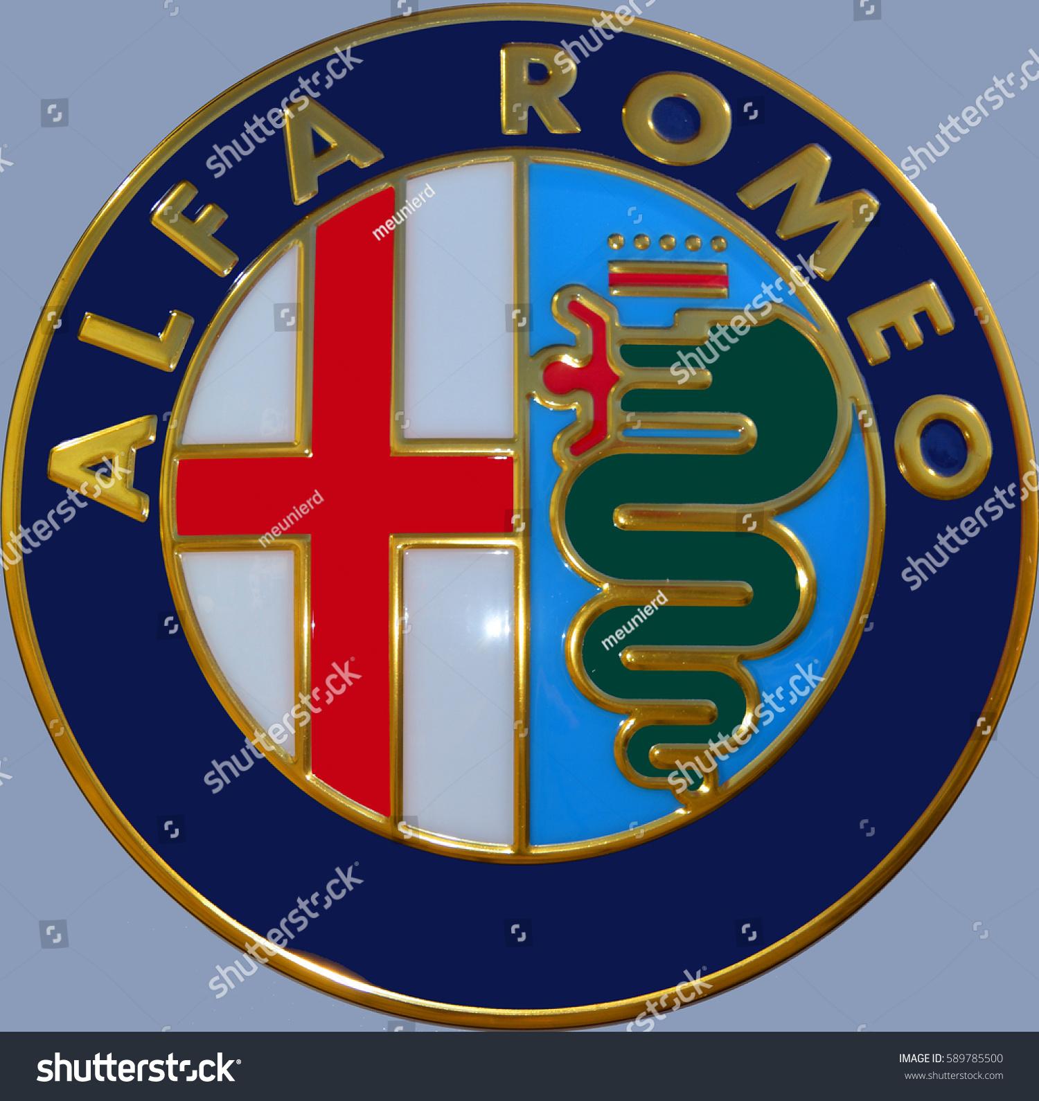 Florence Italy October 17 2016 Italian Car Alfa Romeo Giulia