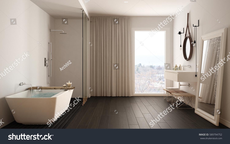Classic bathroom modern minimalistic interior design stock for Bathroom interior design 3d
