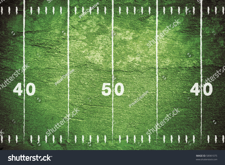 grunge football field close midfield white stock