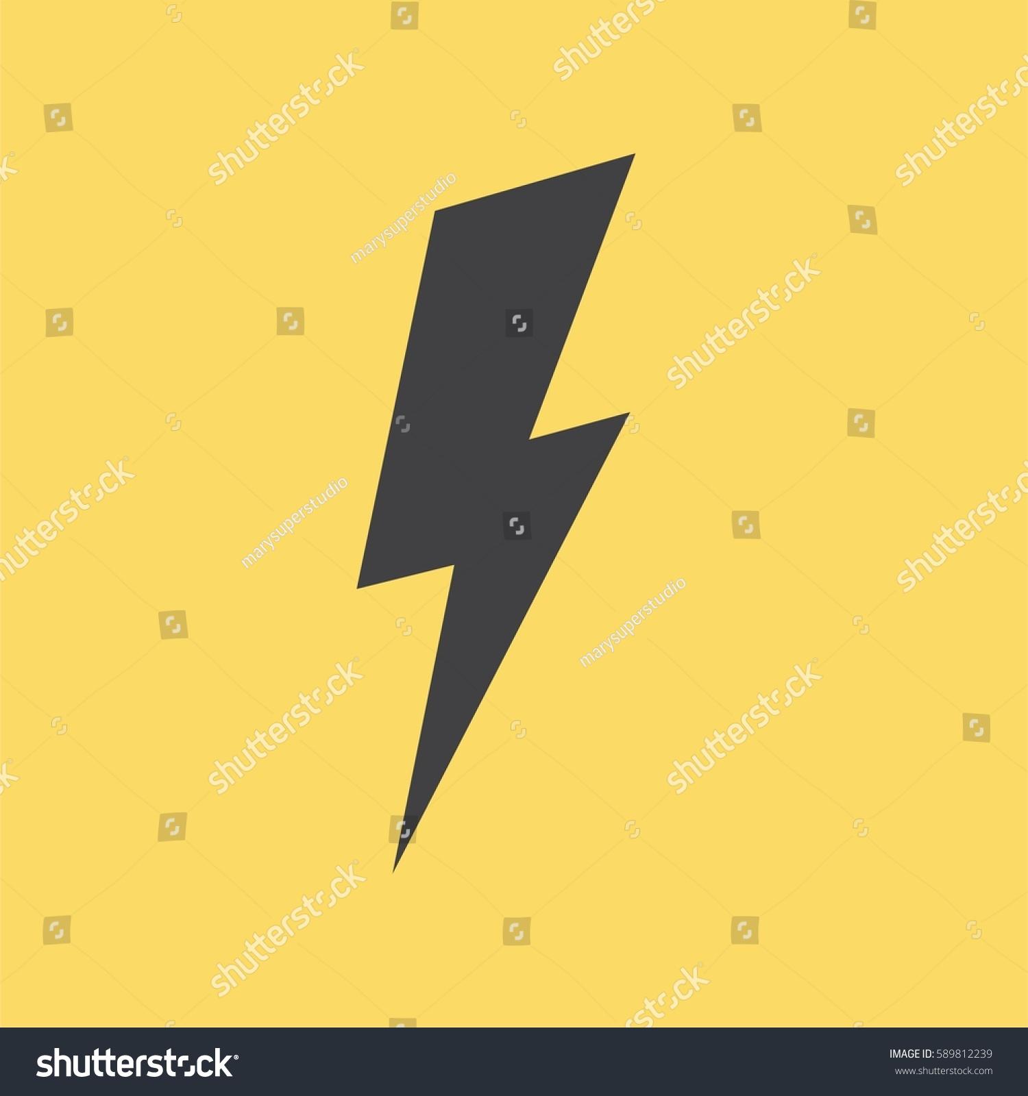 Set Yellow Thunderbolt Symbols Vector Danger Stock Vector 589812239 ...