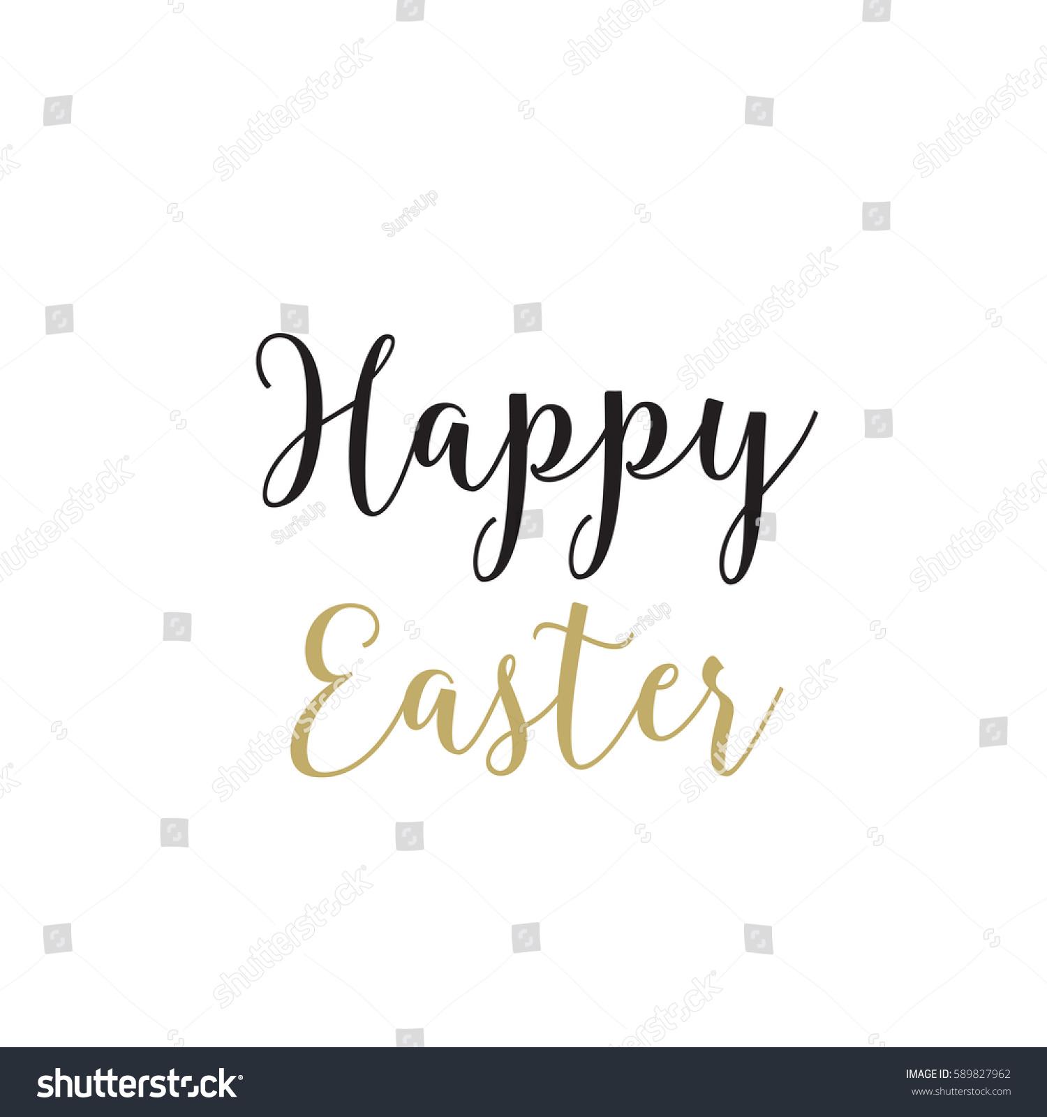 Happy Easter Calligraphy Stock-vektorgrafik 589827962 - Shutterstock